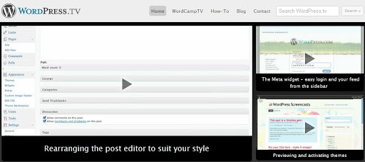 Best WordPress HOWTO Video Tutorials: The Official WordPress video channel