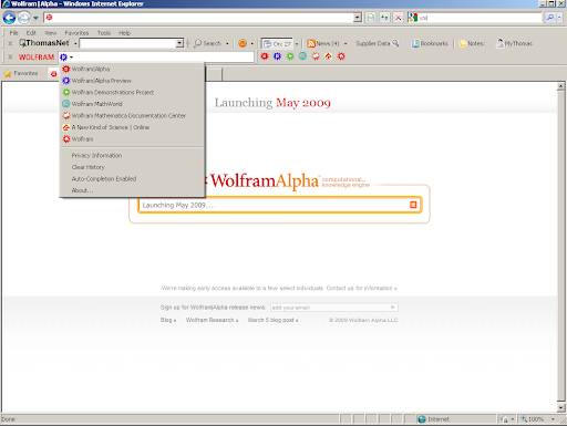 Wolfram|Alpha has a toolbar: Screenshots