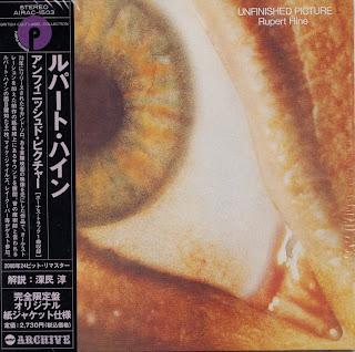 RUPERT HINE - UNFINISHED PICTURE (PURPLE 1973) Jap mastering cardboard sleeve + 1 bonus