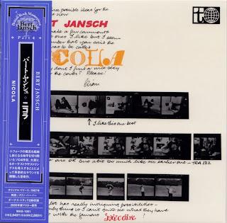 BERT JANSCH - NICOLA (TRANSATLANTIC 1967) Jap mastering cardboard sleeve + 2 bonus
