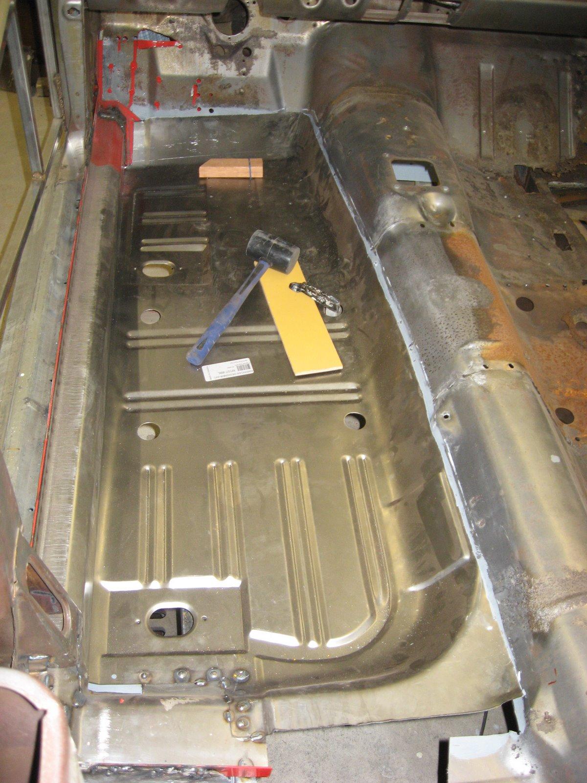 Restoration of a 1965 mustang driver side floor pans for 1965 mustang floor pan