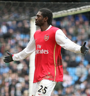 Emmanuel Adebayor EPL 02/02/08 Manchester City vs Arsenal