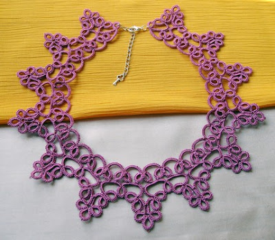 tatted collar, tatted necklace, tatting