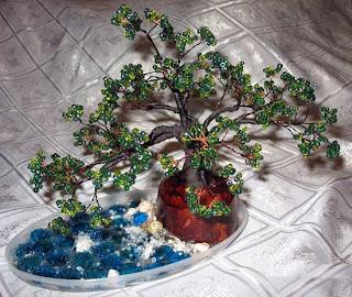 бисер цветы, бисер цветы деревья, плетение бисером цветов
