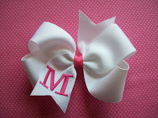 Monogrammed Initial Bows!