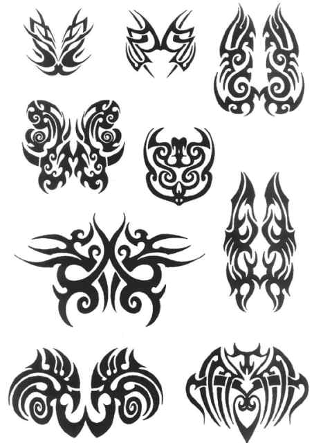 tattoo design: tribal wing tattoo design