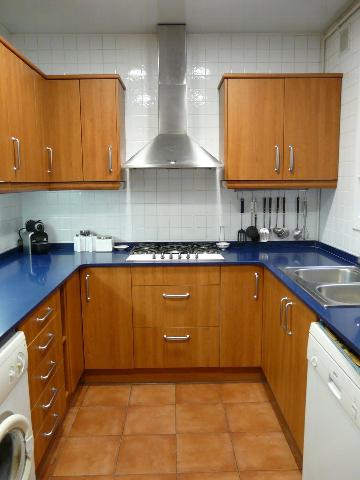 Kapa study cocina azul - Cocinas en forma de u ...