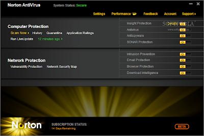 افضل برنامج حماية ضد الفيروسات الاصدار الاخير Norton AntiVirus 2011