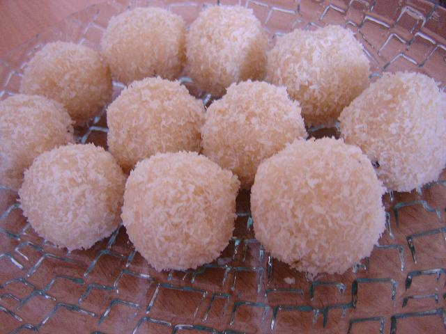 the footloose chef: Quick coconut laddu with condensed milk - repost ...
