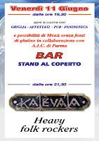 11 giugno ore 21,30 heavy folk rockers i KALEVALA