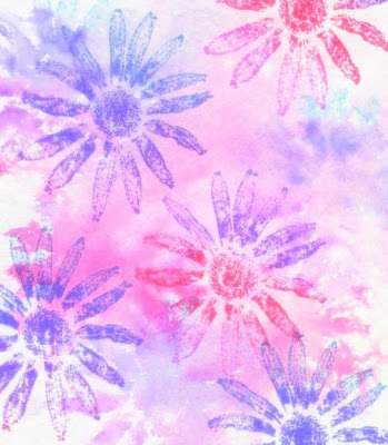 Another way to use watercolors is to create backgrounds with them.