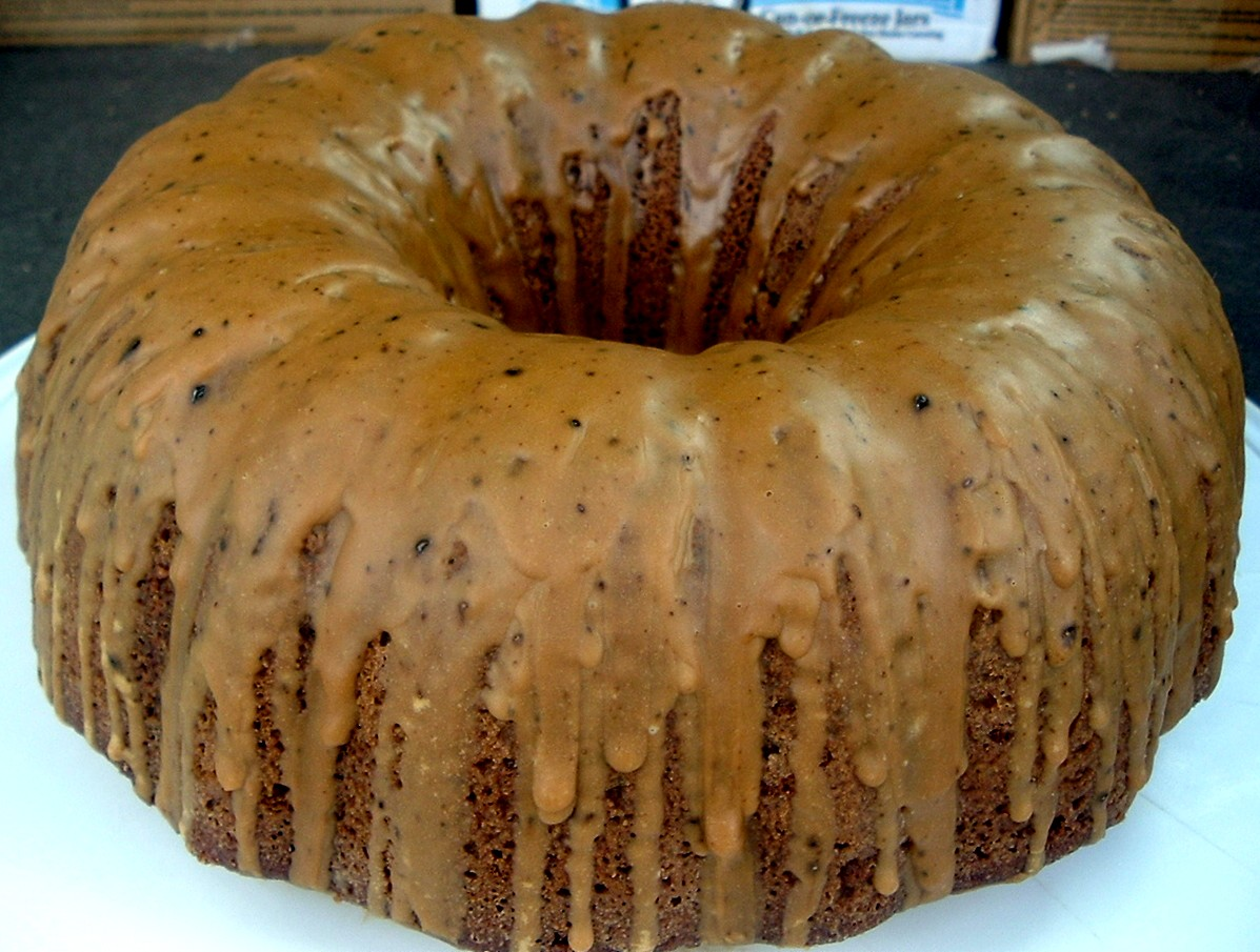 Brown Sugar Pound Cake With Maple Espresso Glaze Recipe — Dishmaps