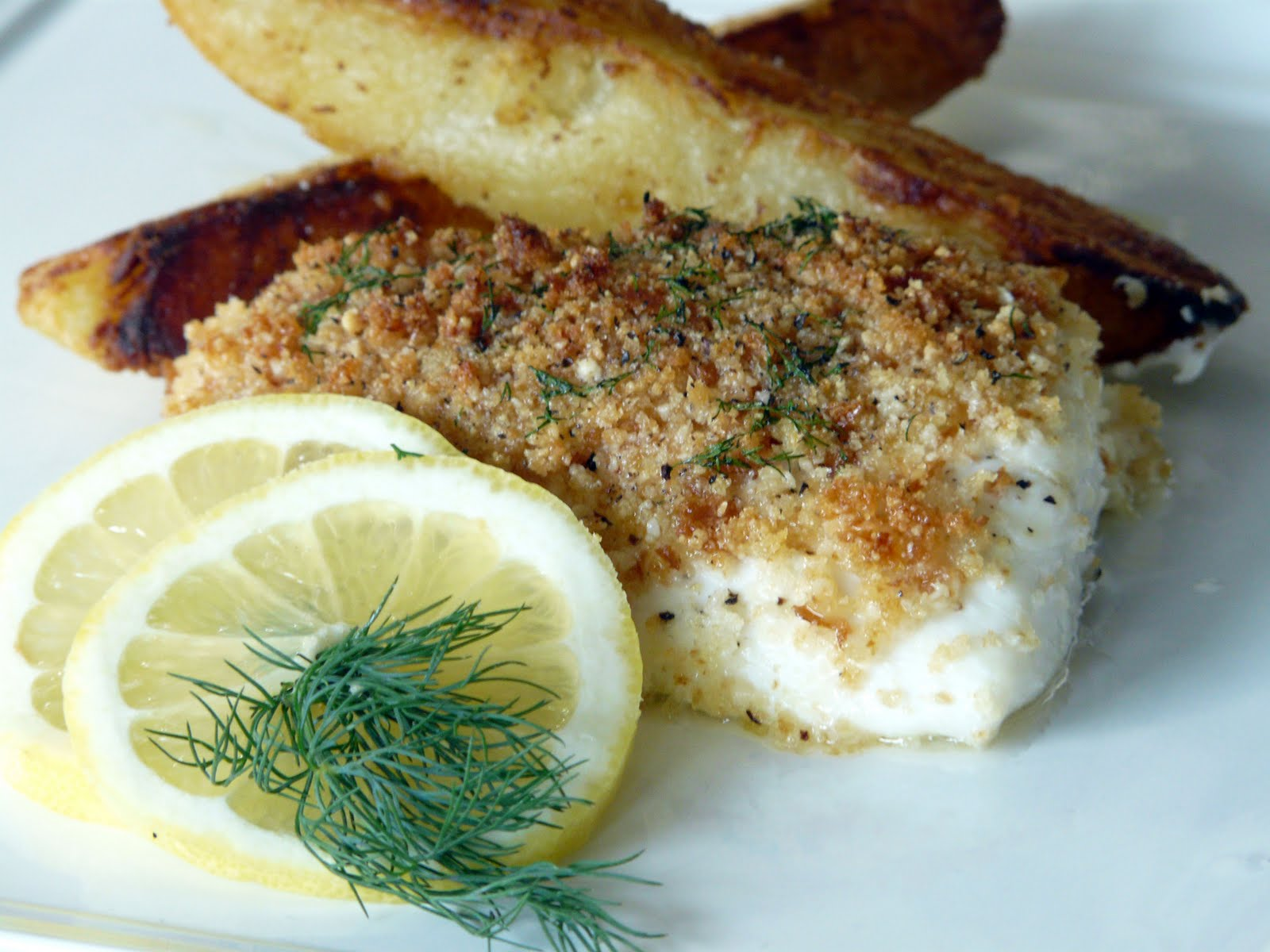 Thibeault's Table: Baked Halibut with Seasoned Bread Crumbs