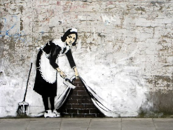 Escondiendo la suciedad, pero las paredes hablan...