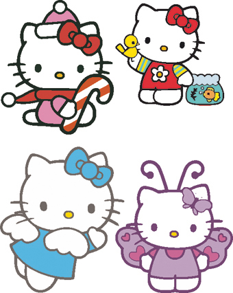 Mas vectores de hello kitty para photoshop