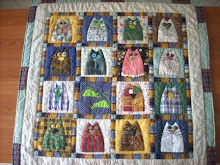 """15 cats & 2 mouses"" quilt"