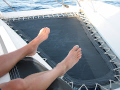 Ironman Toenails sailing in Tahiti!
