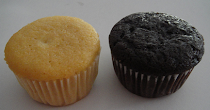 Vanilla &amp; Choc Muffins in Paper Cup