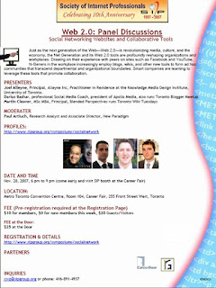 SIP Web 2.0 Panel Discussions, November 2007