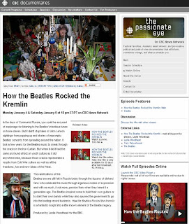 Screenshot: cbc.ca documentaries: How the Beatles Rocked the Kremlin, documentary about the band's role in the fall of the U.S.S.R.