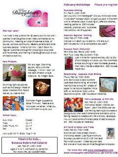 Screenshot: Wise Daughters Craft Market Newsletter, February 2010, at artjunction.blogspot.com