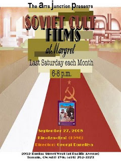 Soviet Cult Films Movie Nights at Margret artjunction.blogspot.com