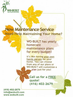 Poster: Wobuilt Home Maintenance Services