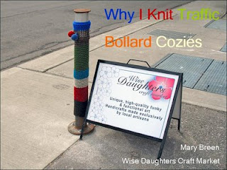 Photo: Why I Knit Traffic Bollard Cozies, by Wise Daughters Craft Market