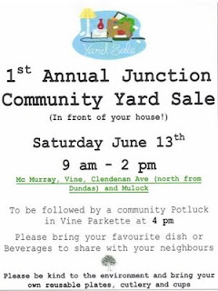 Flyer: 1st Annual Junction Community Yard Sale and Community Potluck, Saturday, June 13th, 2009