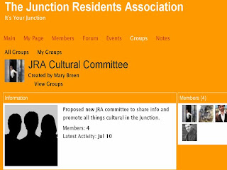 Screenshot: Junction Residents Association Cultural Committee On-line