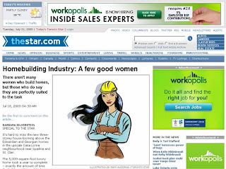 Screenshot: thestar.com: Homebuilding Industry: A few good women who build homes
