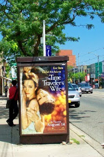 Photo: A Bus Shelter's Movie Poster Toronto, ON, Canada: The Time Traveler's Wife, by artjunction.blogspot.com