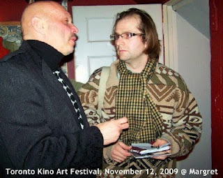 Photo: We'll never get older ...: Alexander Lipnitsky in conversation with Boris Bolero Roginsky at Toronto KinoArt Festival, November 12, 2009 @ Margret: documentary about history of russian rock