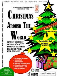 Celebrating Christmas Around the World Festival at Toronto's City Hall Rotunda, December 5 - 6, 2009