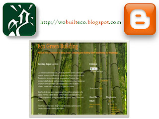Screenshot: Eco Green Building Blog of Wo-Built: Designing Building and Being Green, by wobuilt
