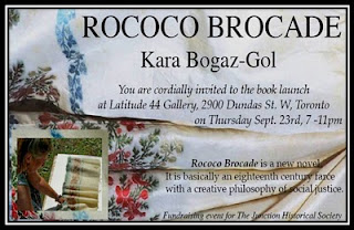 Invitation: Book Launch Rococo Brocade by Kara Bogaz-Gol at Latitude 44 Gallery September 23, 2010, Photo by Olga Goubar