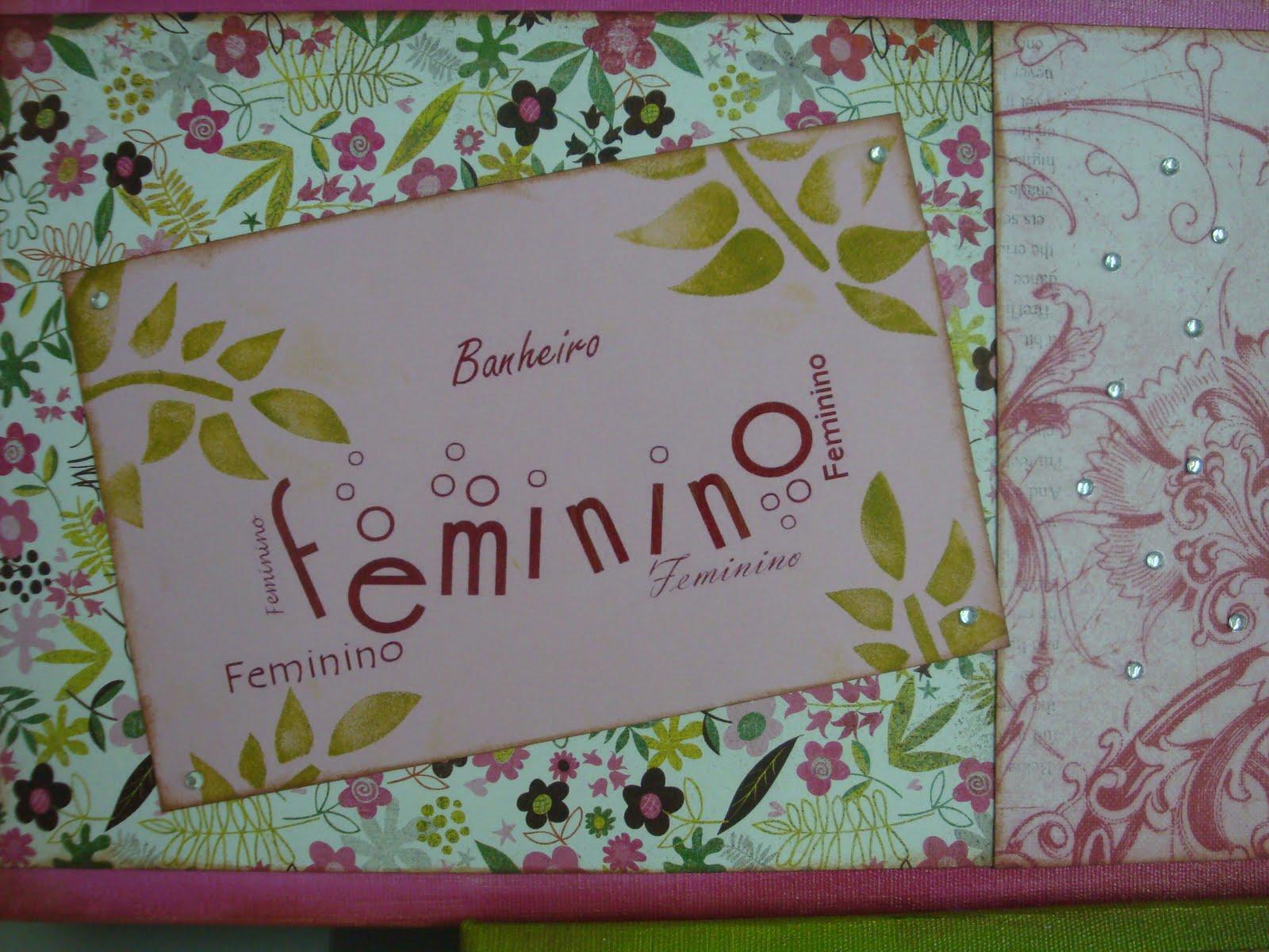 Fazendo Arte Plaquinhas para Banheiro -> Banheiro Feminino Translation