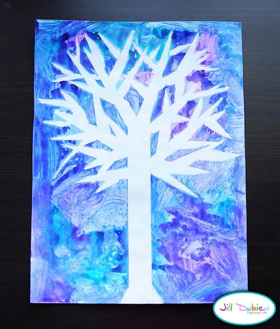 Winter Tree Craft   Munchkins and Mayhem