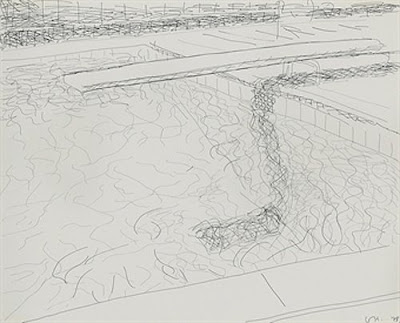1010 drawing line drawing david hockney for Swimming pool drawing