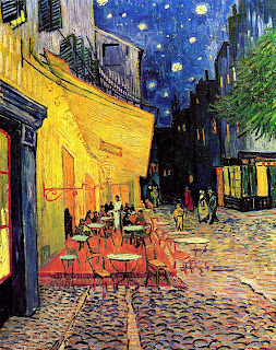 The cafe terrace on the place du forum arles at night 1888 van
