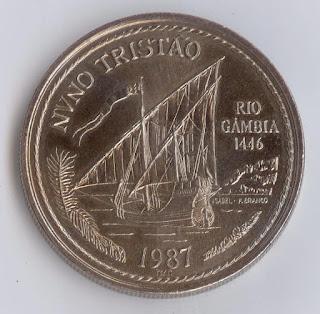 Escudos Portuguesa Vessels on Coins Numismatics collection Парусники на монетах Münze das Wappen Portugals la pièce les armes moneda el escudo