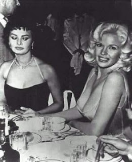 Sophia Loren and Jayne Mansfield's breasts