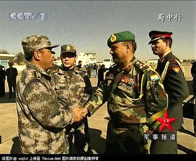 Indian and Chinese army officers meet