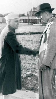 Nehru with Caroe