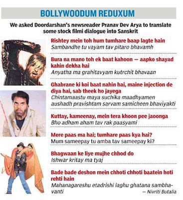 Bollywood dialogues in Sanskrit