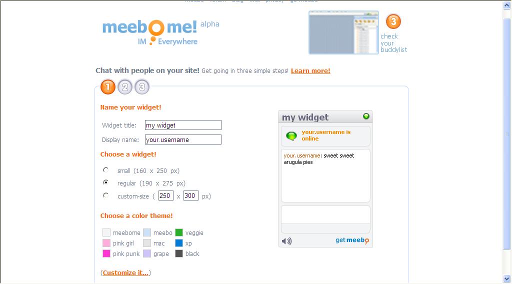 Mis recursos en Blogger: Un chat en tu blog con Meebo Me