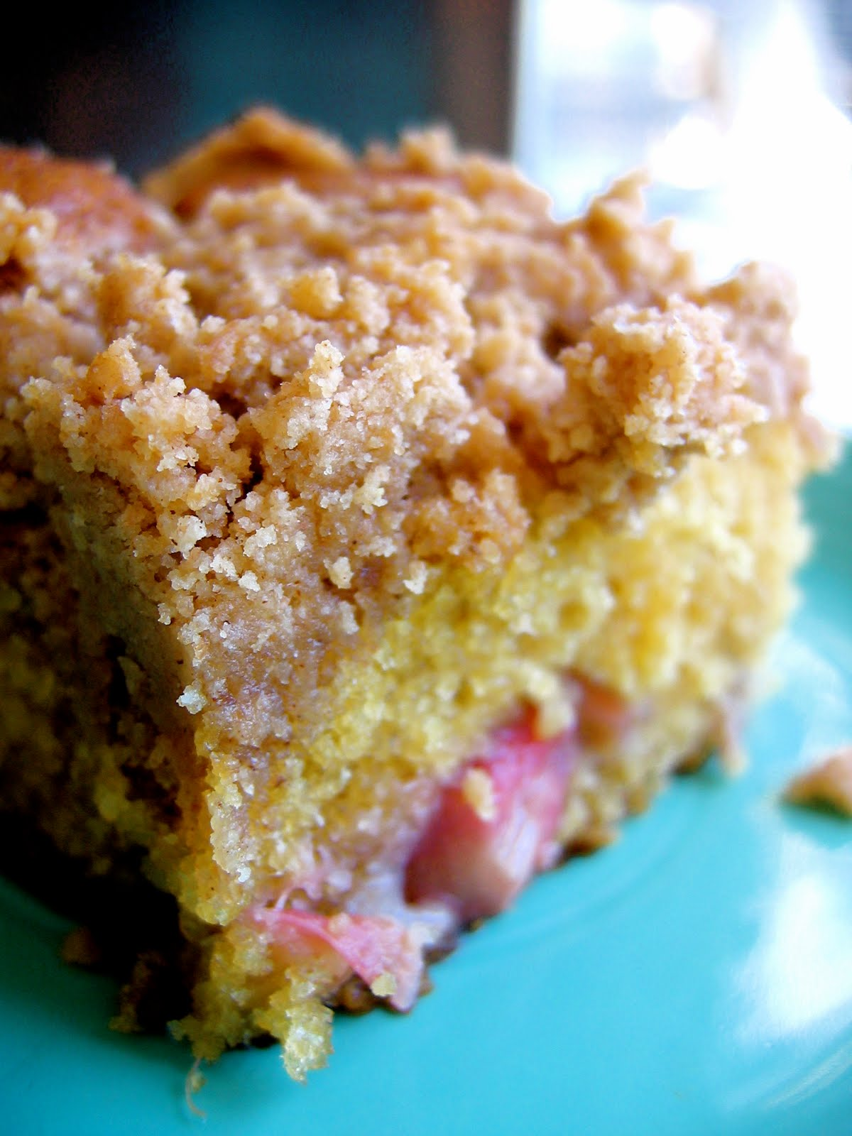 Rhubarb Sour Cream Cake