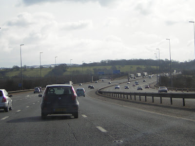 >A Winters Day along the M6 southbound