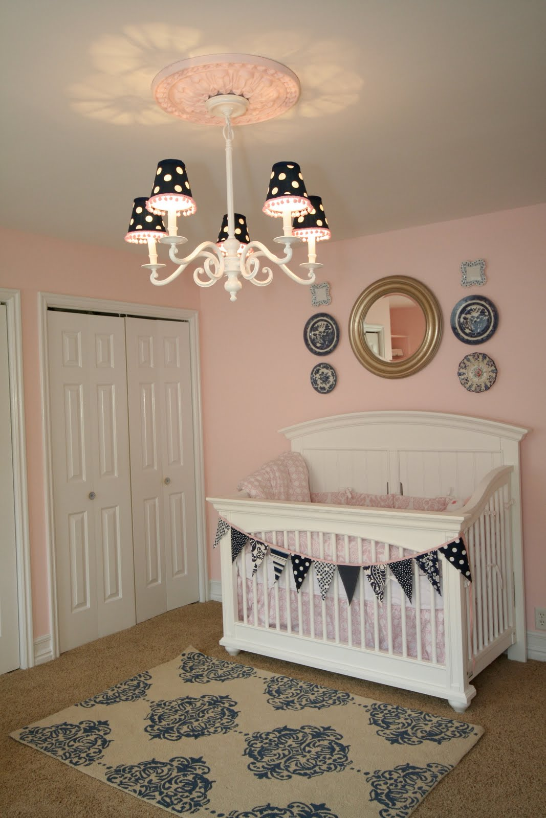 Pink Navy Nursery