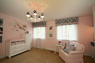 pink + navy nursery